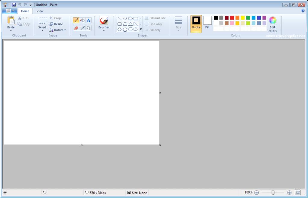 интерфейс программы Paint