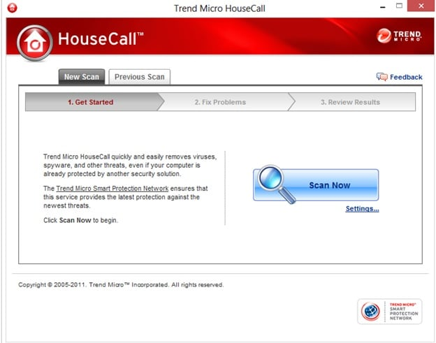 окно программы House Call