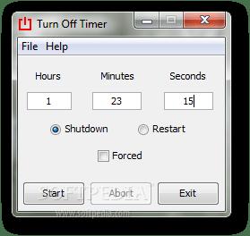 окно программы OFFTimer