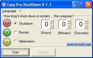 утилита Easy Pro ShutDown