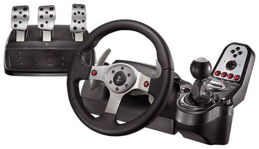 комплект устройства руль с педалями