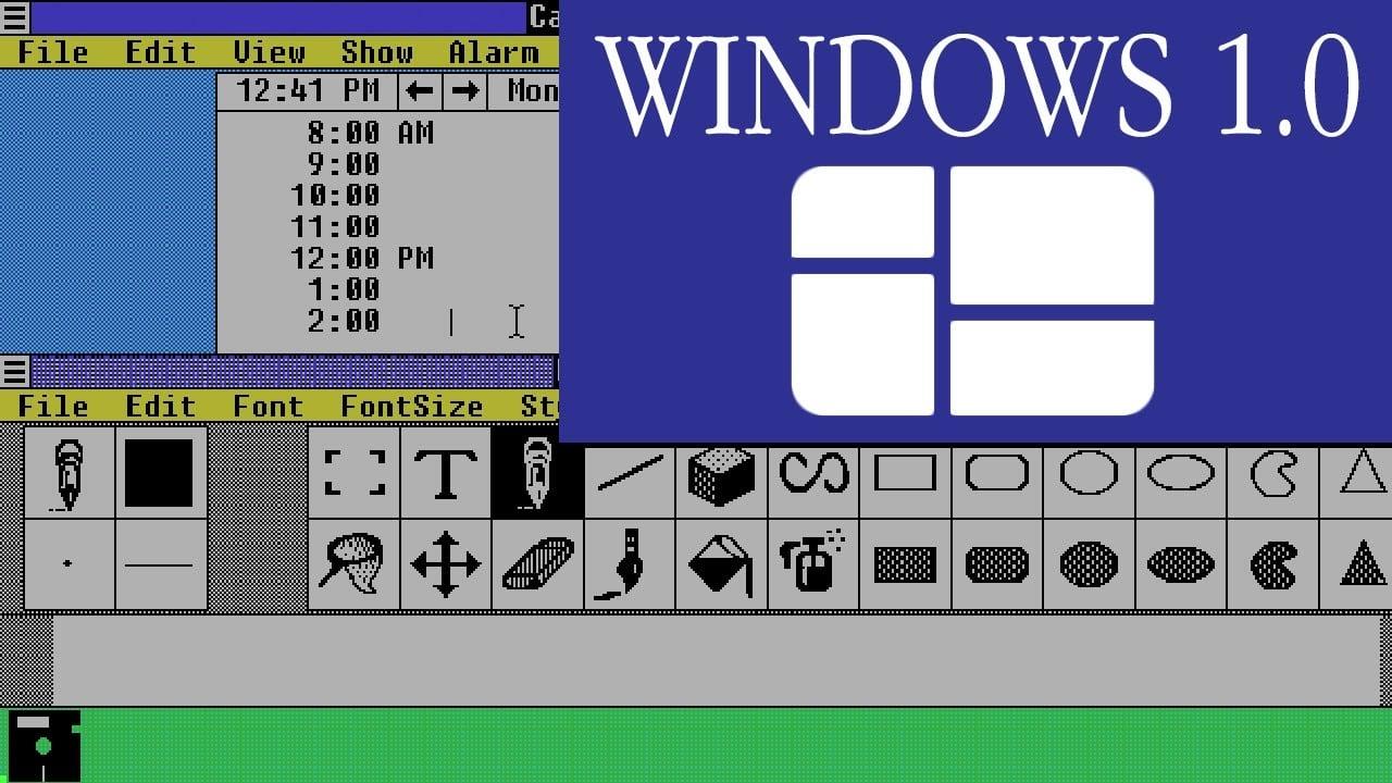 Интерфейс Windows 1.0