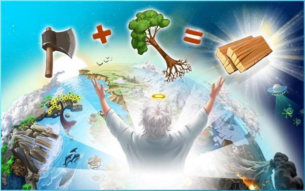 Все элементы в Doodle God