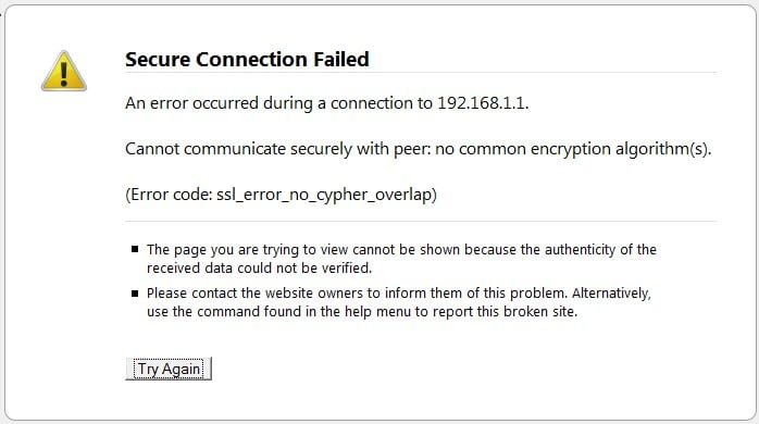 Скриншот ssl_error_no_cypher_overlap