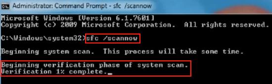 Используем sfc/scannow!