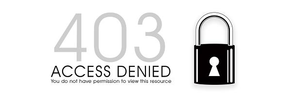 Ошибка 403 на стороне пользователя