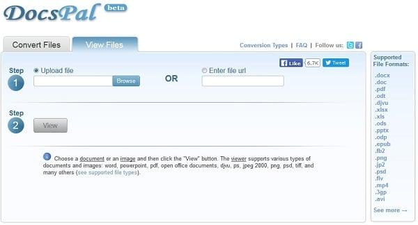 Открываем файл ОДТ онлайн с Docspal