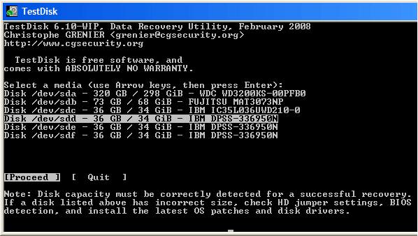 ТеstDisk поможет вернуть ntfs без потери данных