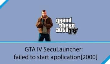 Seculauncher Failed to start application error