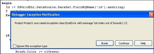 """Ошибка """"List Index out of bounds(-1,0)"""" при отладке программы"""