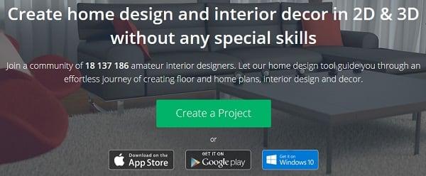 """Нажмите на кнопку """"Create a Project"""" для создания проекта"""