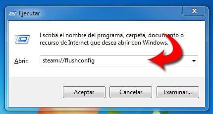 Выполните команду steam://flushconfig