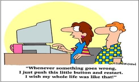 """""""Когда что-то идёт не так, я просто нажимаю эту маленькую кнопочку и перезагружаюсь. Хочу, чтобы в моей жизни всё было точно так же"""""""
