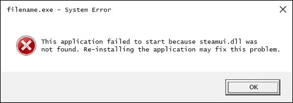 Скриншот ошибки filename