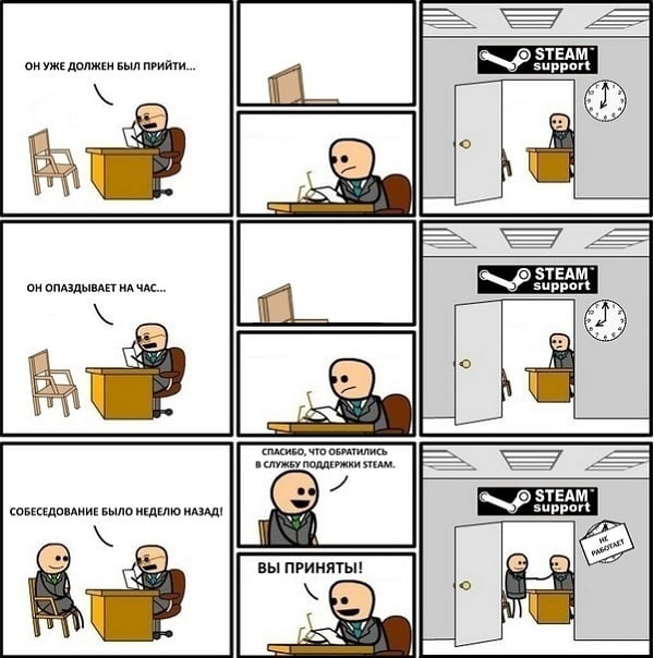 Комикс на Steam Support