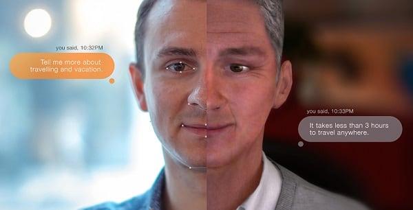 Общение с самим собой в режиме чата на futureself.orange.com