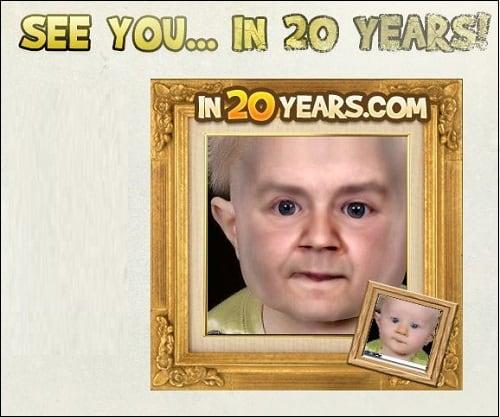 Сервис in20years.com покажет, как вы будете выглядеть через 20 или 30 лет