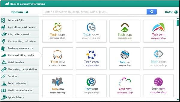 Подобные сервисы обладают сотнями графических шаблонов для создания нужного пользователю логотипа