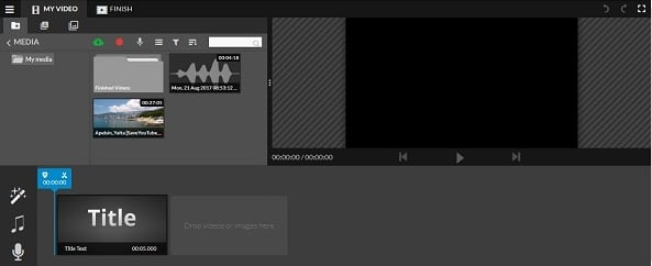 "Рабочий экран сервиса ""Wevideo"""