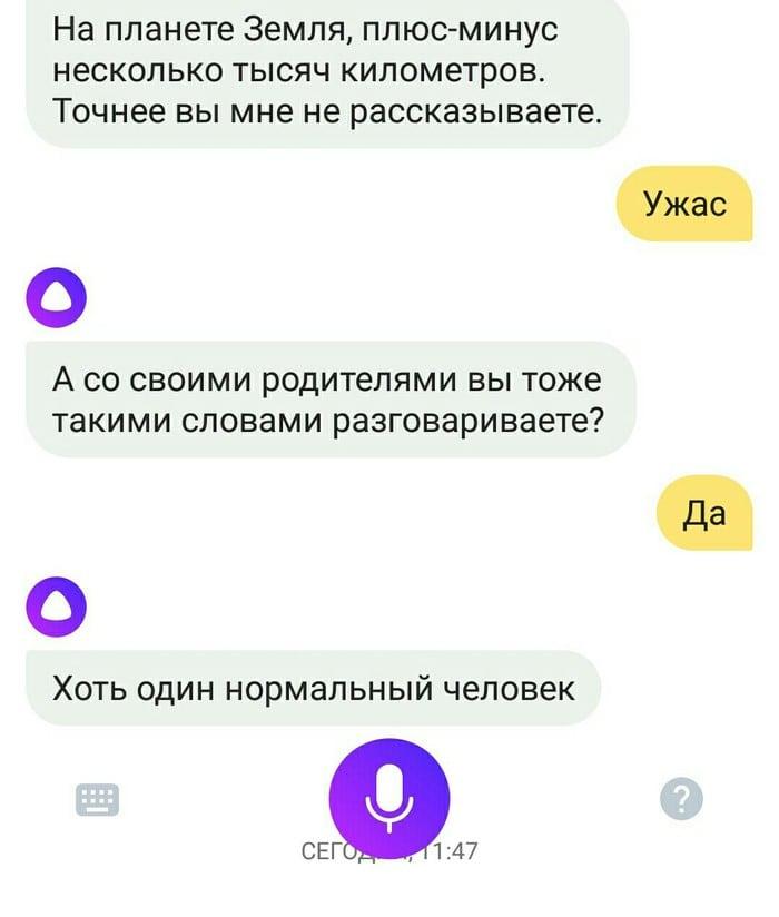 Смешной диалог с ботом