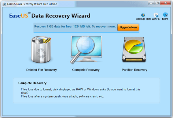 Программа EaseUS Data Recovery Wizard