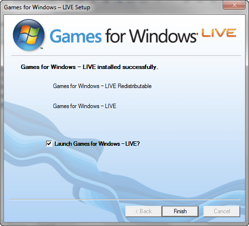 Программа Games for Windows