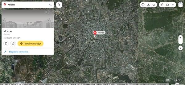 Карты на Яндексе