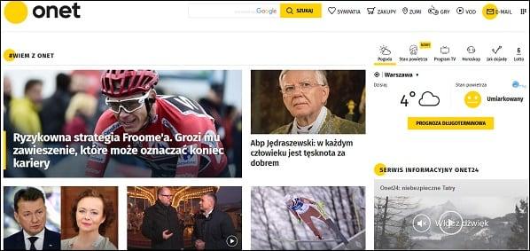 """""""Onet"""" - польский интернет портал"""