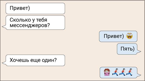 Диалог о мессенджерах