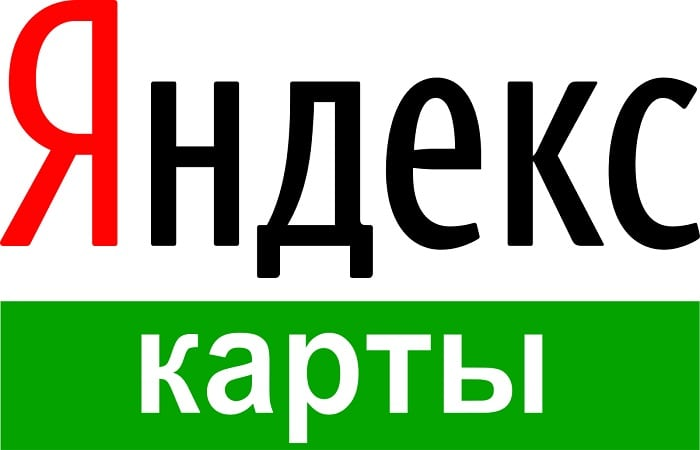 Надпись Яндекс карты