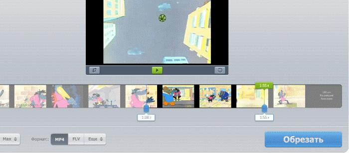 Скриншот обрезки ролика