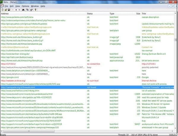 """""""Xenu"""" - эффективный инструмент для поиска битых ссылок"""