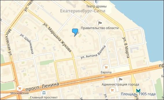 Расположение отделения на карте