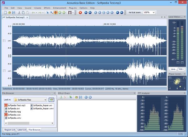 Acoustica Basic Edition полифункциональный редактор аудио