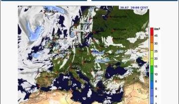 Карта осадков на meteoblue.com
