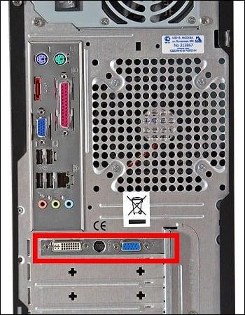 Подключайте монитор к разъёму дискретной видеокарты