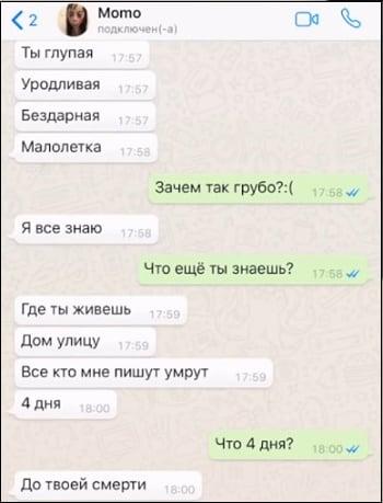 Пример диалога с Момо