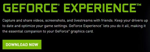 Скрин загрузки GeForce Experience