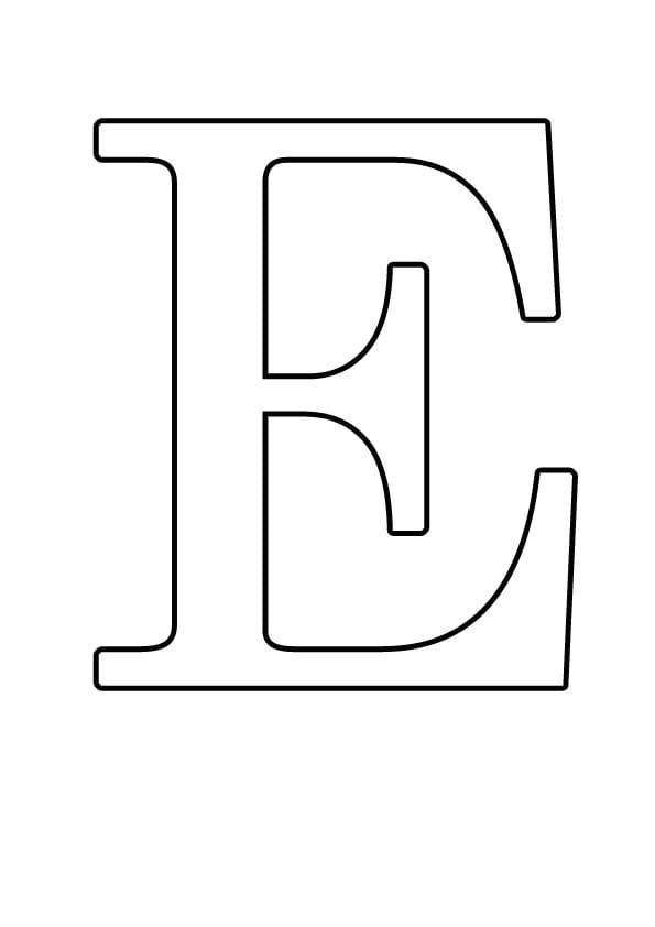 Буква E
