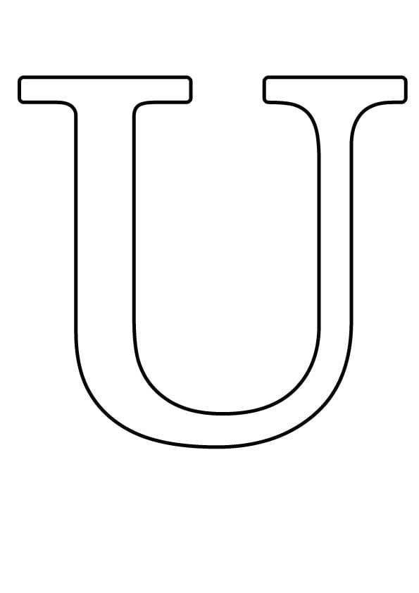 Буква U