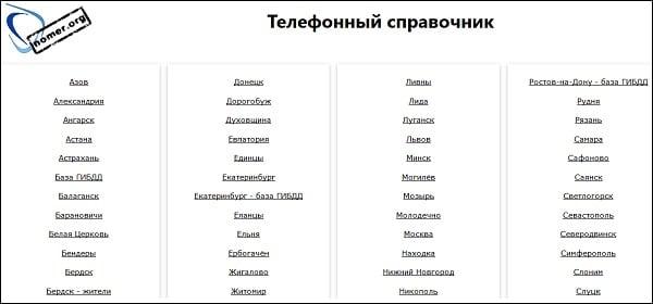 Ресурс nomer-org.xyz
