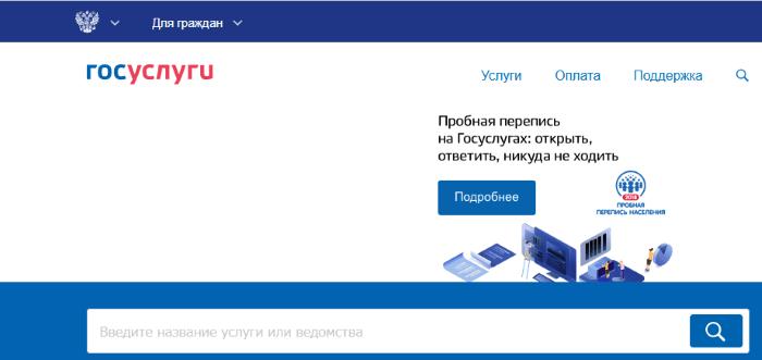 Сайт gosuslugi.ru