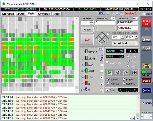 Проверьте целостность винчестера с помощью Victoria HDD