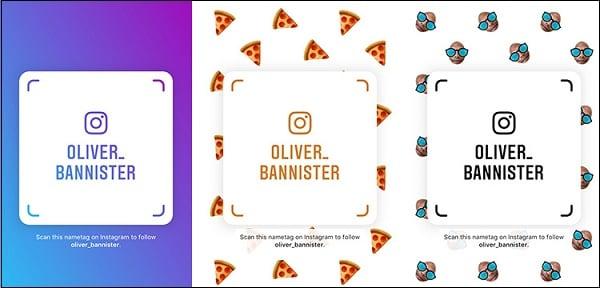 Визитки Инстаграм