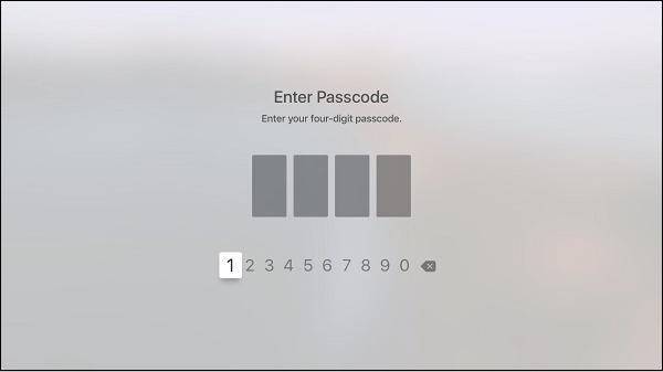Экран ввода Passcode