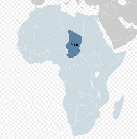 Республика Чад на карте