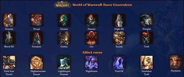 Сервис fantasynamegenerators
