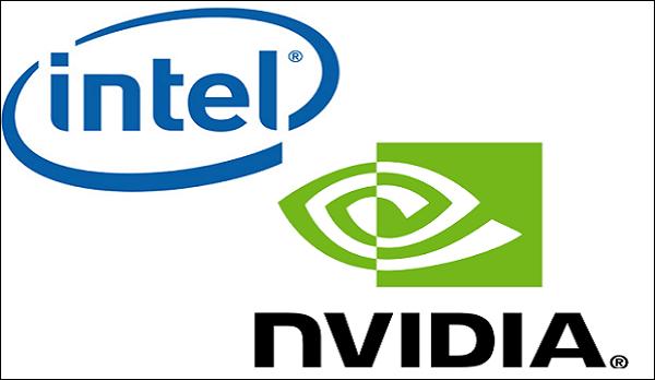 Логотипы Intel и Nvidia