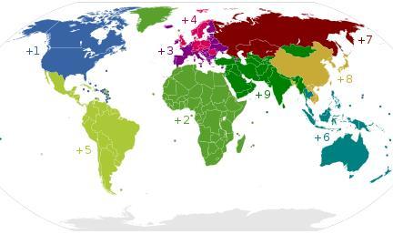 Коды стран мира