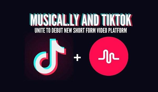Иллюстрация объединения Тик Ток и Musically